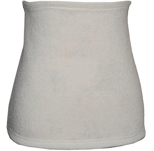 Belldessa Angora Wolle - creme - Nierenwärmer/Rückenwärmer/Bauchwärmer - Größe: Damen Frauen XXXL - ideal auch für Blasenentzündung und Hexenschuss/Rückenschmerzen/Menstruationsbeschwerden