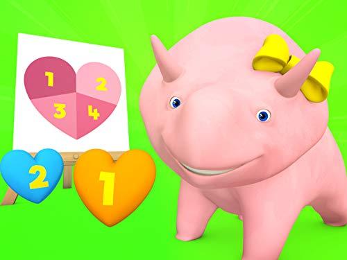 Valentinstag / Super Bowl / Dino und Dina lernen Zahlen beim spielen mit Würmern! / Tierkörperteile (Dinosaurier Spiele Dinosaurier)