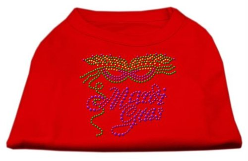Mirage Pet Products Mardi Gras Rhinestud Shirt, Größe XXL, rot -