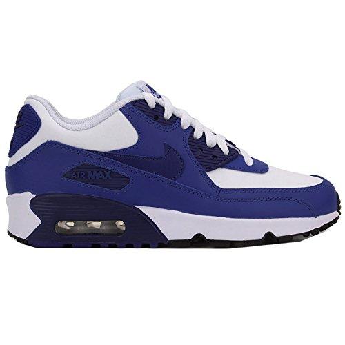 Nike Air Max 90 Couro 833412-402 Turnschuhe Royal Blue-ginásio Royal-branco, Preto-profundo (833412-105)