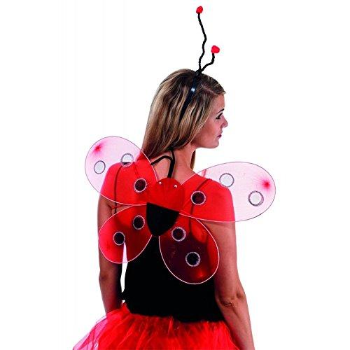 Unbekannt P'tit Clown Marienkäfer-Flügel–48x 45cm–mehrfarbig