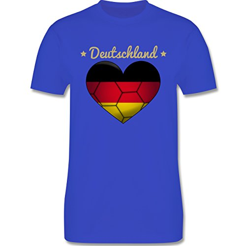 Handball - Handballherz Deutschland - Herren Premium T-Shirt Royalblau