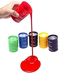 ROYALS Barrel O Slime Slimey Kids Play Fun For All Ages Gifting Colourful Toys - Pack Of 4
