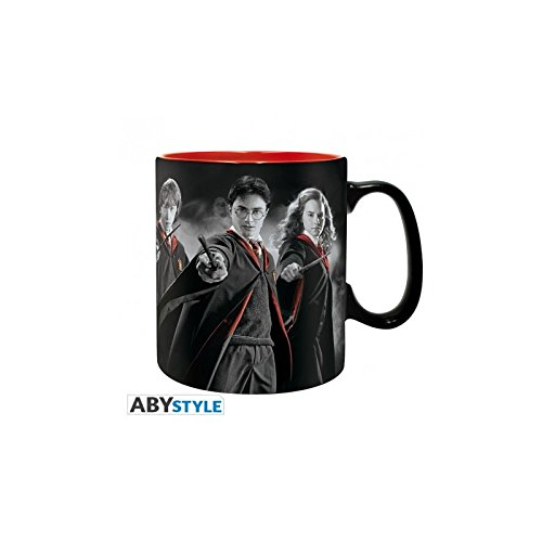 Taza Harry Potter, Harry, Hermione y Ron. 320ml.