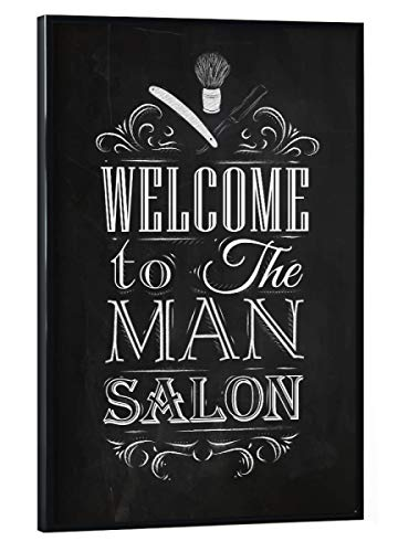 artboxONE Poster mit schwarzem Rahmen 30x20 cm Typografie Barber Shop II - Bild Barber bart Barbershop