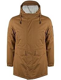 Bellfield Alliance Mens Camel Jacket Hooded Parka Coat