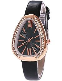 TLfyajJ - Reloj de Pulsera de Cuarzo con diseño de Serpiente Triangular con circonitas en Forma