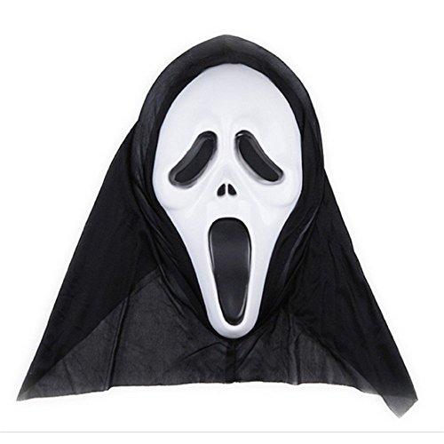 PromMask Masken Gesichtsmaske Gesichtsschutz Domino falsche Front Halloween Aprilscherz-Tagesmake-up Make-upball Maske A