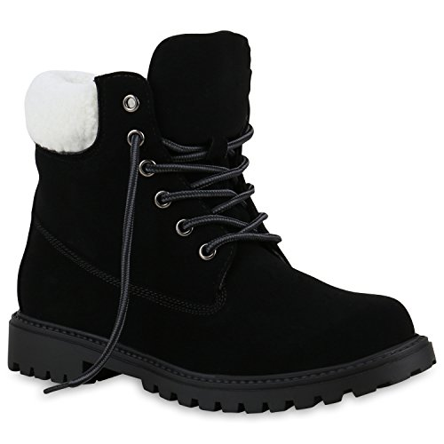 Quente Botas De Trabalho Alinhados Senhoras Ankle Boots Ao Ar Livre Preto Confortável