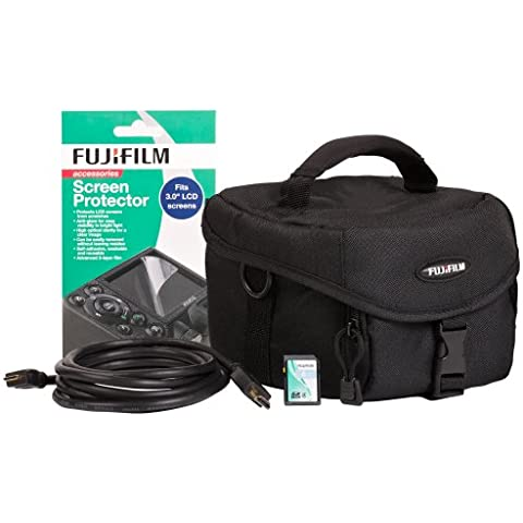 Fuji P10NA04830A - Juego de accesorios para cámara compacta (funda, tarjeta de memoria de 4GB, cable HDMI, protector de