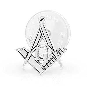 Freimaurer Masonic Kompass Symbol Ehrennadel Lehrling Platz Für Herren Für Damen 925 Sterling Silber
