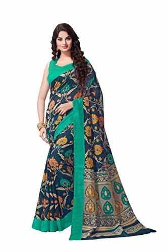 Miraan Women's Bhagalpuri Silk Saree With Blouse Piece (Vi9045_Multi-Coloured)