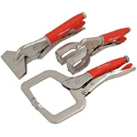 Schweiß Locking C-Clamp Set 3pc (Mega Grip) 1 St. / S