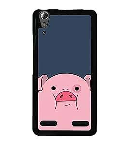 Cute Pig 2D Hard Polycarbonate Designer Back Case Cover for Lenovo A6000 :: Lenovo A6000 Plus :: Lenovo A6000+