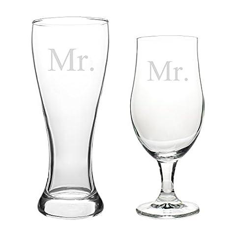Cathy's Concepts MR2223 Mr. & Mr. Pilsner Set,