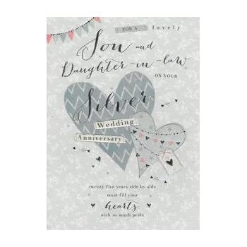 son and daughter in law on your silver anniversary card amazon co