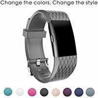 Sunface Fitbit Charge 2 Strap Band - Classic Silicone Adjustable Replacement Band - Accessories Wristband Strap for Fitbit Charge 2 Bracelet