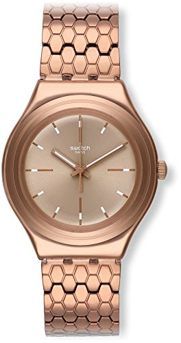 Swatch YGG103G - Orologio da polso Donna, Acciaio inox, colore: Marrone