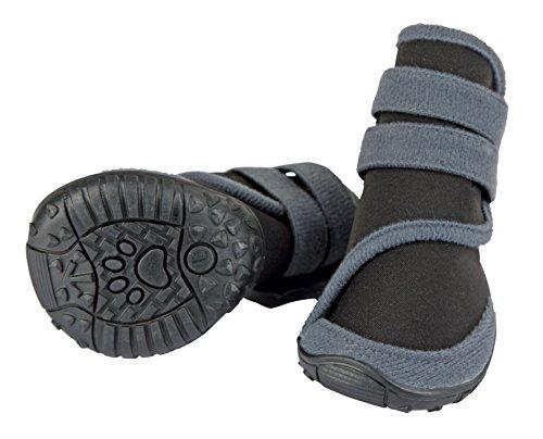Kerbl 80608 Pfotenschutz für Hunde – Hundeschuhe XL – grau/schwarz - 2