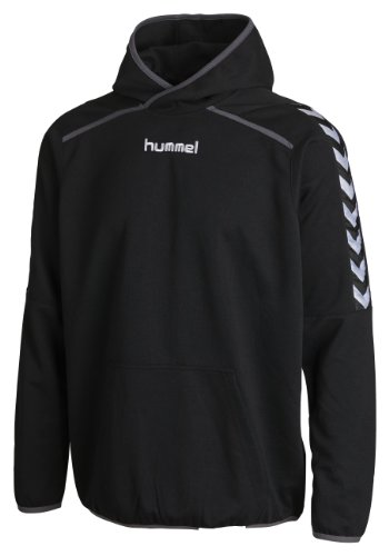 Poly Hoody (Hummel Kinder Sweatshirt Stay Authentic Poly Hoody Black, 6-8(116-128))
