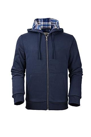 Moheen Men's Fleece Zip Up Hoodie Long Sleeve
