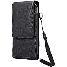 Lordwey® Funda 5.5inch universal teléfono móvil cinturón caso de la bolsa, Vertical cuero de la PU caja de la cartera de la cintura para el Samsung S8/S7 Edge/Huawei Honor 6 Plus -negro