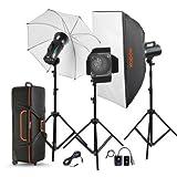 #4: Godox GS200-D GS Studio Kit 3 200W Flash lights