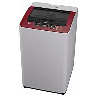 Panasonic NA-F65HS3RRB Fully-automatic Top-loading Washing Machine (6.5 Kg, White and Maroon)