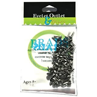 Eyelet Outlet Round Brads 4mm 70/Pkg-Brushed Silver