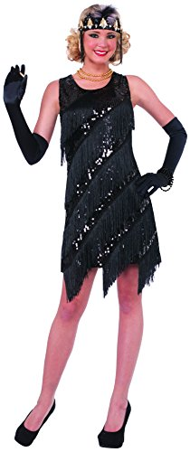 Midnight Dazzle 20's Flapper Gangster Gal Adult Costume X-Small/Small