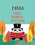 Panda Lined Journal Notebook: Writing Journals with Lined Paper Book to Write in For Kids, Planner, To do List, Field Notes and Draw Sketch Blank ... Journaling, Calligraphy Font, Hand Lettering