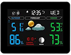 Weather Stations with Outdoor Sensor Wireless BY EpicWeather | Weather-Station | Indoor Outdoor Thermometer | Weather Station with Outdoor Sensor | Home Weather Station | 100% Money Back Guarantee