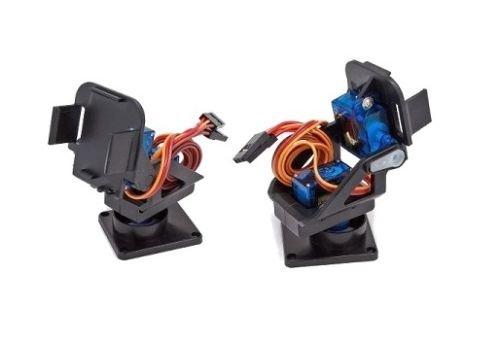 Supporto pan tilt 2 assi per servo motore SG90 MG90 per videocamere arduino