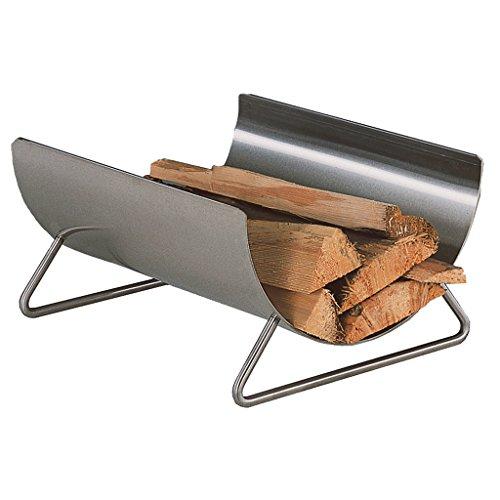 Heibi Panier à bois en acier inoxydable