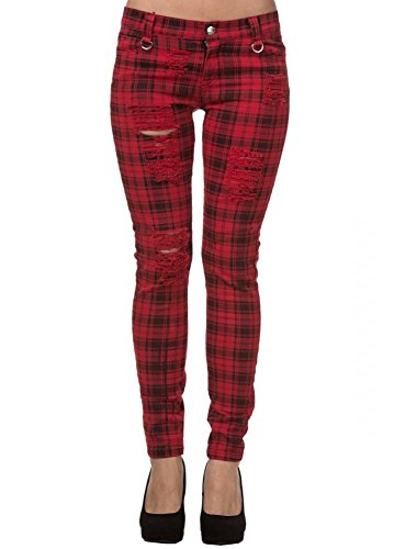 Banned Apparel -  Jeans  - Donna rosso X-Small