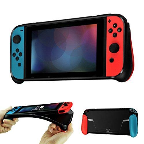 Nintendo Switch Hülle Schutzhülle Silikonhülle haben Game karten Slot Griff und rutschfeste Anti-Scratch