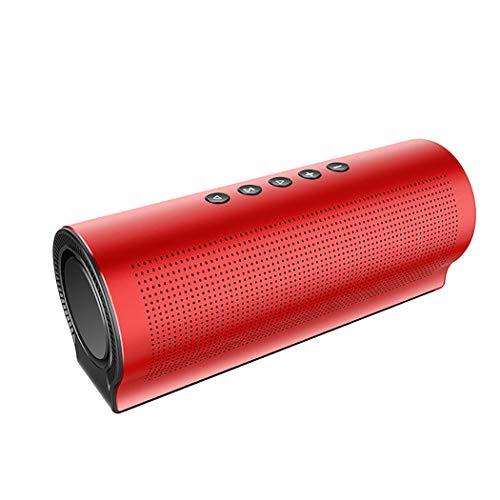 RAPLANC Bluetooth-Lautsprecher mit integriertem HiFi-Stereo-Sound, 4000-mAh-Powerbank, Zwei Subwoofer mit Stereo-Sound für Musikgenuss,Rot 2 Schallköpfe