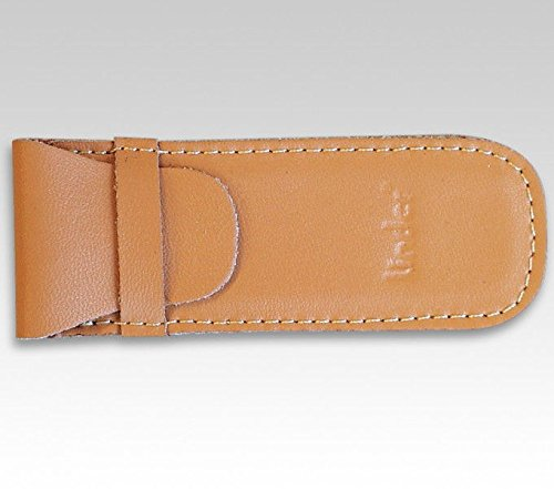 Linder Taschenmesser-Etui, Leder braun, 9 cm
