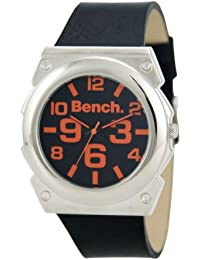 Bench BC0246SLBK - Reloj analógico de caballero de cuarzo con correa de plástico negra