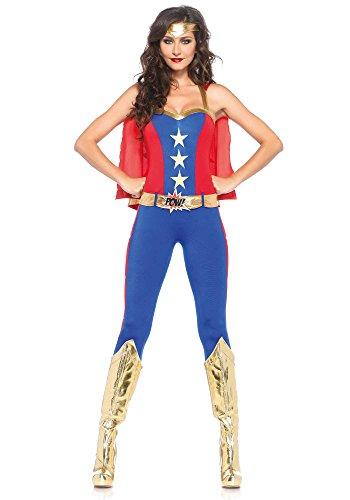 Leg Avenue 85418 - Comic- Book Hero Damen kostüm, Größe Large (EUR 40), Karneval Fasching