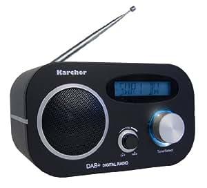 Karcher DAB 2408 DAB+ Digitalradio (FM-Radio, Weckfunktion, Dual-Alarm, Snooze-Funktion) schwarz