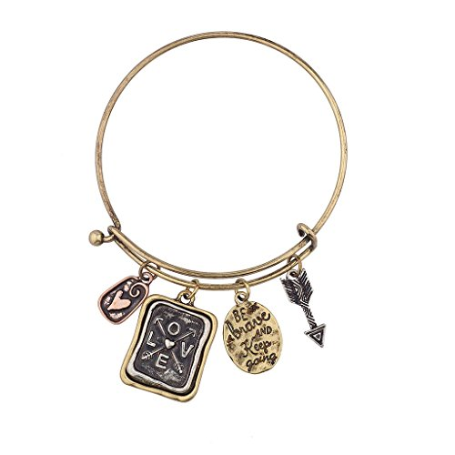 lux-accessories-be-brave-and-keep-going-inspirational-charm-bangle-bracelet