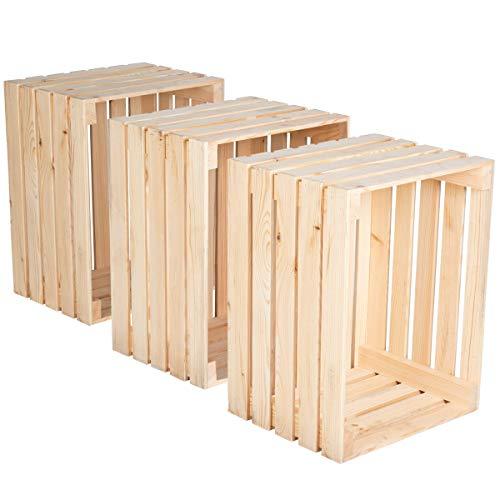 Holzkiste 3 Stück),