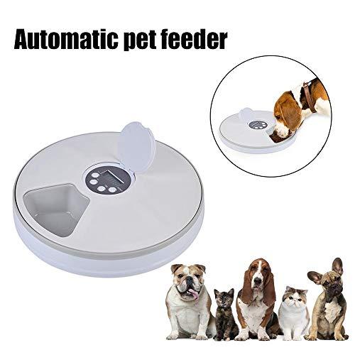 HCHD Automatische Futternapfverteilung 6 Gitterfächer Für Hundekaninchen- Und Kleintierfutter, Trockene Und Nasse Platte (Couleur : White) -
