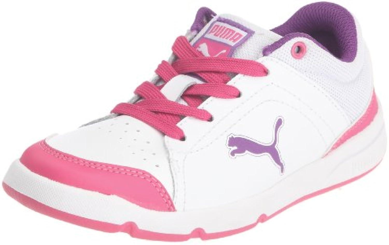 Puma - Zapatillas para deportes de interior de cuero para niña blanco blanco 38.5