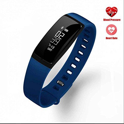 Fitness Armband Pulsmesser Fitness tracker Smart Bracelet Blutdruck Monitor Sportuhr mit Pedometer Unterstützung Schlafanalyse Ringing Erinnerung Sitzender Alarm für IOS & Android