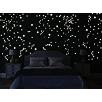 Película luminosa Bilderdepot24 pared - 265 puntos luminosos para observar las estrellas - fluorescente e luminoso