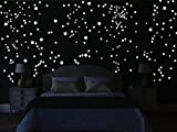 Bilderdepot24 Wandtattoo Leuchtfolie - 265 Leuchtpunkte für Sternenhimmel - Fluoreszierend und Nachtleuchtend