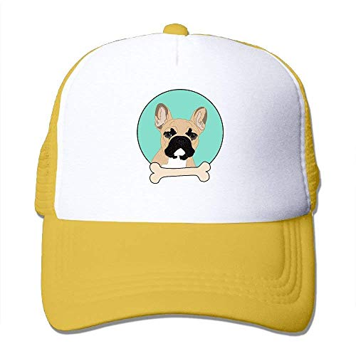 Wdskbg French Bulldog Adjustable Sports Mesh Baseball Caps Trucker Cap Sun Hats ()