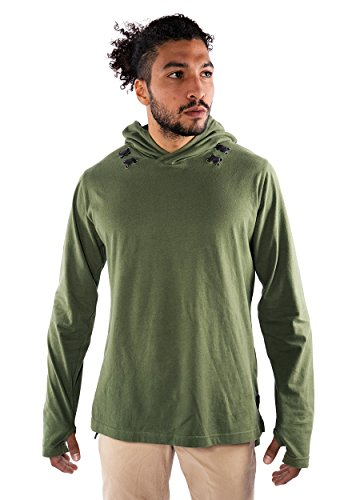 Musterbrand-Zelda-Langarm-T-Shirt-Herren-Link-Shirt-Gaming-Bekleidung-Grn